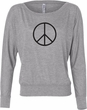 Ladies Peace Shirt Basic Peace Black Off Shoulder Tee T-Shirt