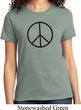Ladies Peace Shirt Basic Peace Black Tee T-Shirt