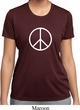 Ladies Peace Shirt Basic Peace White Moisture Wicking Tee T-Shirt