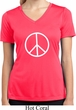 Ladies Peace Shirt Basic Peace White Moisture Wicking V-neck Tee