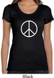 Ladies Peace Shirt Basic Peace White Scoop Neck Tee T-Shirt