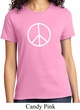 Ladies Peace Shirt Basic Peace White Tee T-Shirt