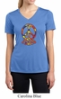 Ladies Peace Shirt Funky Peace Moisture Wicking V-neck Tee T-Shirt