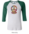 Ladies Peace Shirt Funky Peace Raglan Tee T-Shirt