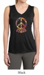 Ladies Peace Shirt Funky Peace Sleeveless Moisture Wicking Tee T-Shirt