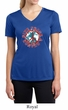 Ladies Peace Shirt Give Peace a Chance Moisture Wicking V-neck Tee