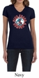 Ladies Peace Shirt Give Peace a Chance V-neck Tee T-Shirt