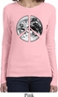 Ladies Peace Shirt Peace Earth Long Sleeve Tee T-Shirt