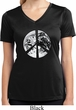 Ladies Peace Shirt Peace Earth Moisture Wicking V-neck Tee T-Shirt