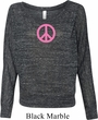 Ladies Peace Shirt Pink Peace Off Shoulder Tee T-Shirt