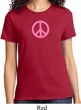 Ladies Peace Shirt Pink Peace Tee T-Shirt