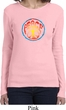 Ladies Peace Shirt Psychedelic Peace Long Sleeve Tee T-Shirt