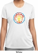 Ladies Peace Shirt Psychedelic Peace Moisture Wicking Tee T-Shirt