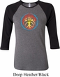 Ladies Peace Shirt Psychedelic Peace Raglan Tee T-Shirt