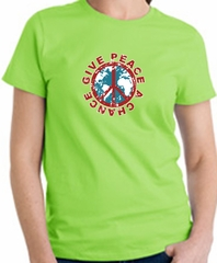 Ladies Peace Sign T-shirt - Give Peace A Chance Adult Tee