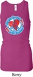 Ladies Peace Tanktop All You Need is Love Longer Length Racerback Tank