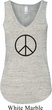 Ladies Peace Tanktop Basic Peace Black Flowy V-neck Tank Top