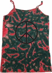 Ladies Peace Tanktop Basic Peace Black Tie Dye Camisole Tank Top