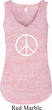 Ladies Peace Tanktop Basic Peace White Flowy V-neck Tank Top