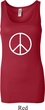 Ladies Peace Tanktop Basic Peace White Longer Length Tank Top
