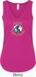 Ladies Peace Tanktop Come Together Flowy V-neck Tank Top