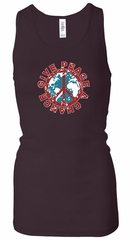 Ladies Peace Tanktop Give Peace a Chance Longer Length Racerback Tank