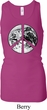 Ladies Peace Tanktop Peace Earth Longer Length Racerback Tank Top