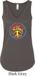 Ladies Peace Tanktop Psychedelic Peace Flowy V-neck Tank Top