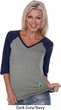 Ladies Pineapple Patch Bottom Print V-Neck Raglan