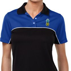 Ladies Pineapple Patch Pocket Print Polo Shirt