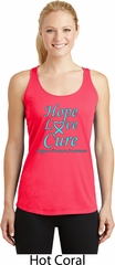 Ladies Prostate Cancer Hope Love Cure Dry Wicking Racerback