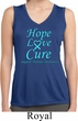 Ladies Prostate Cancer Hope Love Cure Dry Wicking Sleeveless Shirt