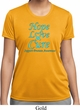 Ladies Prostate Cancer Hope Love Cure Dry Wicking T-shirt