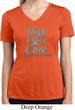 Ladies Prostate Cancer Hope Love Cure Dry Wicking V-neck