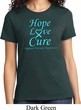 Ladies Prostate Cancer Hope Love Cure T-shirt