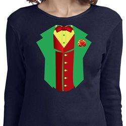 Ladies Rasta Vest Tuxedo Long Sleeve Shirt