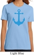 Ladies Sailing Shirt Blue Anchor Organic Tee T-Shirt