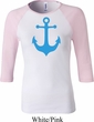 Ladies Sailing Shirt Blue Anchor Raglan Tee T-Shirt