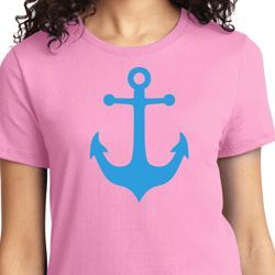 Ladies Sailing Shirt Blue Anchor Tee T-Shirt