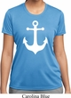 Ladies Sailing Shirt White Anchor Moisture Wicking Tee