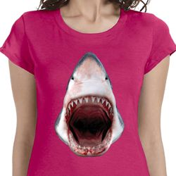 Ladies Shark Shirt 3D Shark Longer Length Tee T-Shirt