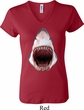 Ladies Shark Shirt 3D Shark V-neck Tee T-Shirt