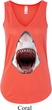 Ladies Shark Tanktop 3D Shark Flowy V-neck Tank Top