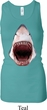 Ladies Shark Tanktop 3D Shark Longer Length Racerback Tank Top