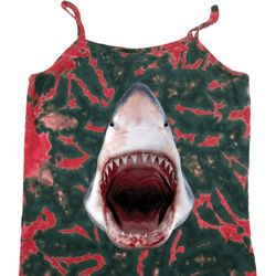 Ladies Shark Tanktop 3D Shark Tie Dye Camisole Tank Top