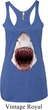 Ladies Shark Tanktop 3D Shark Tri Blend Racerback Tank Top