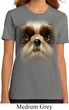 Ladies Shih Tzu Shirt Big Shih Tzu Face Organic T-Shirt