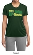 Ladies Shirt 10% Irish 90% Drunk Moisture Wicking Tee T-Shirt