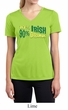 Ladies Shirt 10% Irish 90% Drunk Moisture Wicking V-neck Tee T-Shirt