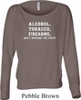 Ladies Shirt Alcohol Tobacco Firearms ATF Off Shoulder Tee T-Shirt